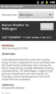 NZ Marine Weather screenshot 0