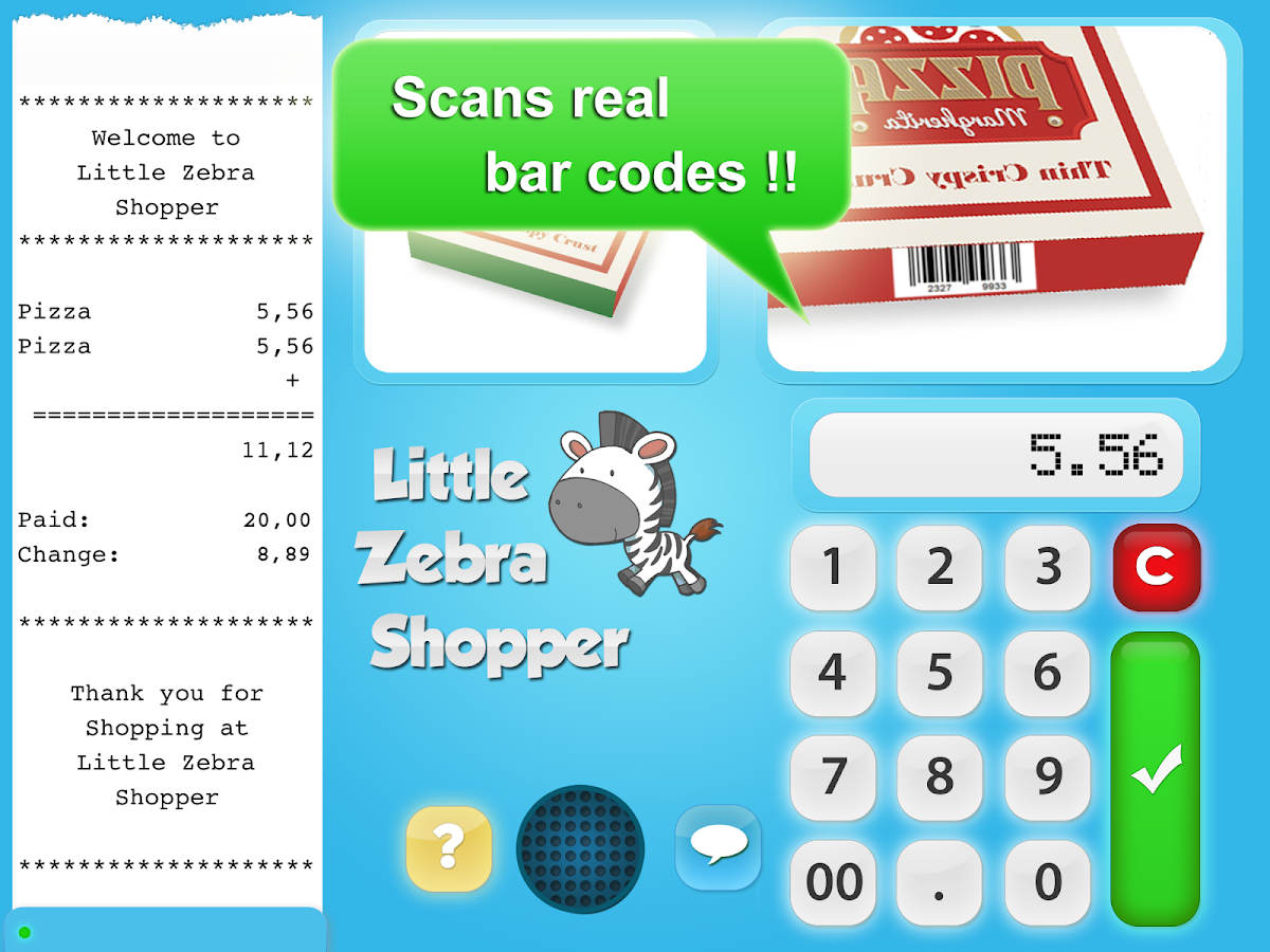 Little Zebra Shopper Free- screenshot