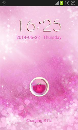 GO锁屏金葱粉|玩個人化App免費|玩APPs