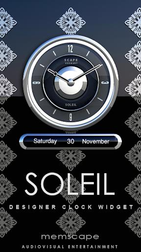 SOLEIL Designer Clock Widget