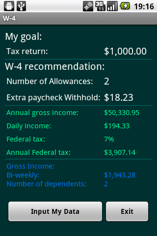 W-4 Fed.Tax Return Management - screenshot