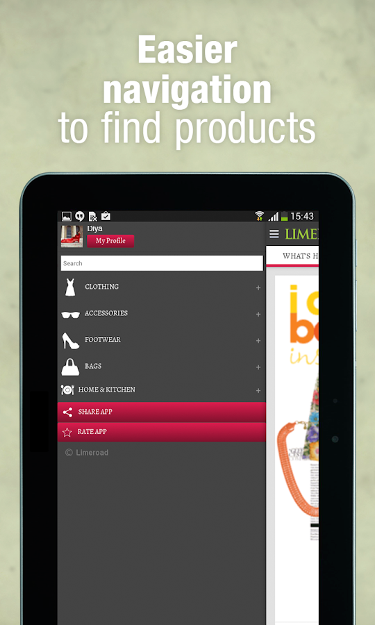 LimeRoad Men & Women Shopping- screenshot