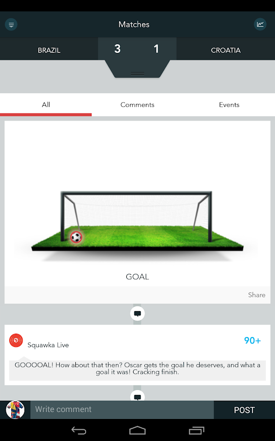 Squawka Football App- screenshot