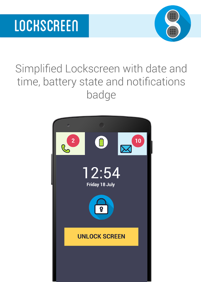 Phonotto Simple Phone Launcher- screenshot