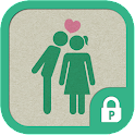 Love pictogram protector theme icon