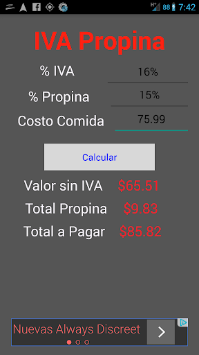 IVA Tip Calculator