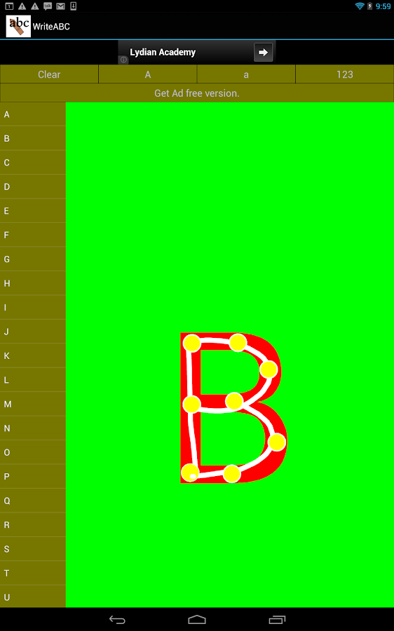 Write abc ( learnABC ) - screenshot