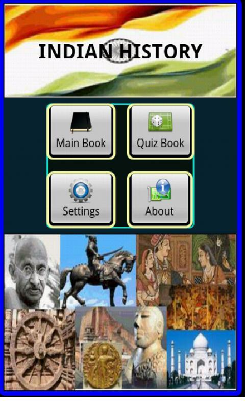 Indian History, Book & Quiz - screenshot