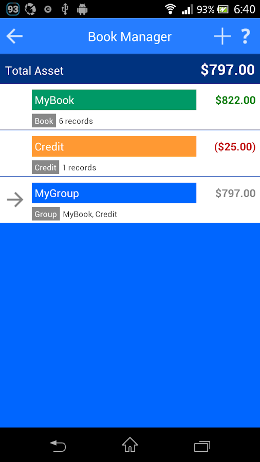 Spendroid Free - Finance Mgr- screenshot