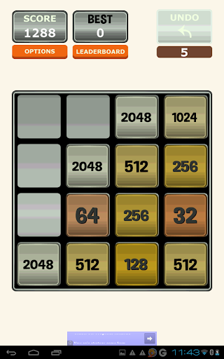 Two - 2048 backwards to 2