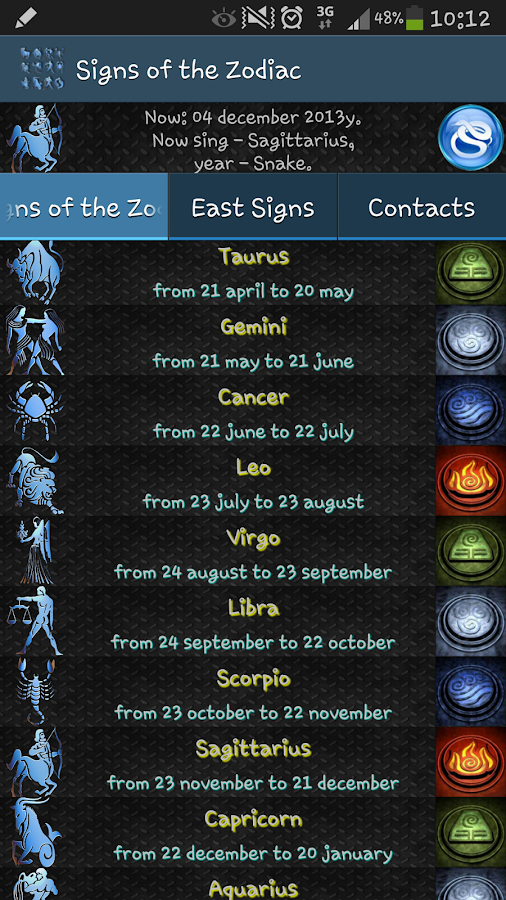 Signs of the Zodiac - screenshot