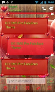 Fabulous Hearts - GO SMS Theme- screenshot thumbnail