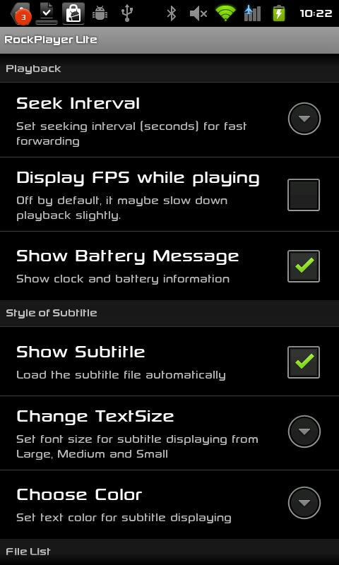 RockPlayer Lite- screenshot