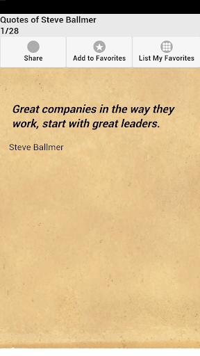 Quotes of Steve Ballmer