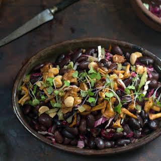 Ayocote Bean & Mushroom Salad.