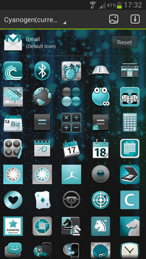 CYANOGEN GO Launcher EX Theme - screenshot