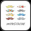 mustache Go Launcher theme icon
