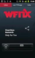 Screenshot of WFNX Radio