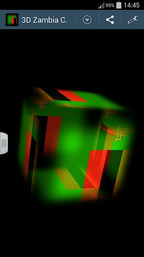 3D Zambia Cube Flag LWP
