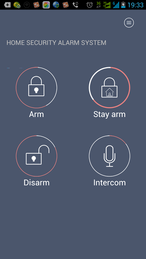 G90 home alarm system- screenshot