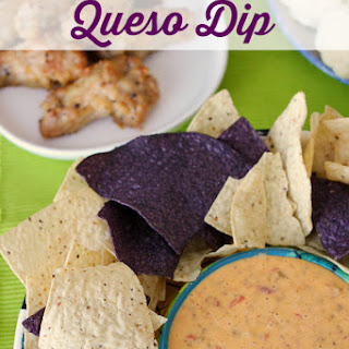 Chicken Queso Dip #QuesoForAll.