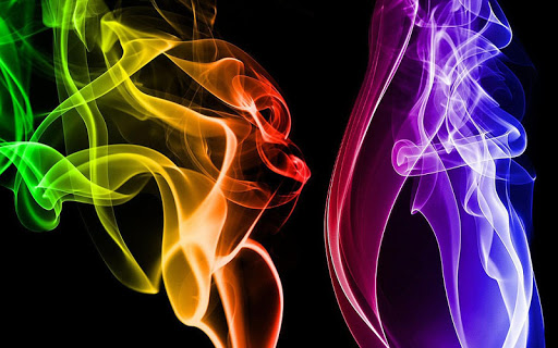 Colourful Smoke Wallpaper