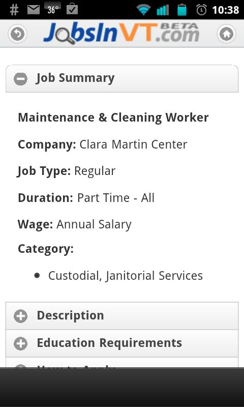 Seek JobsInVT - screenshot