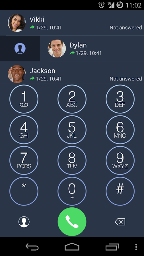 ExDialer OS 7.1 Dark Theme - screenshot