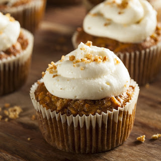 Carrot Cake Cupcake with Cream Cheese Icing and Brown Sugar