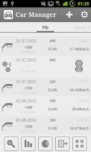 Car Fuel Manager - Free - screenshot thumbnail