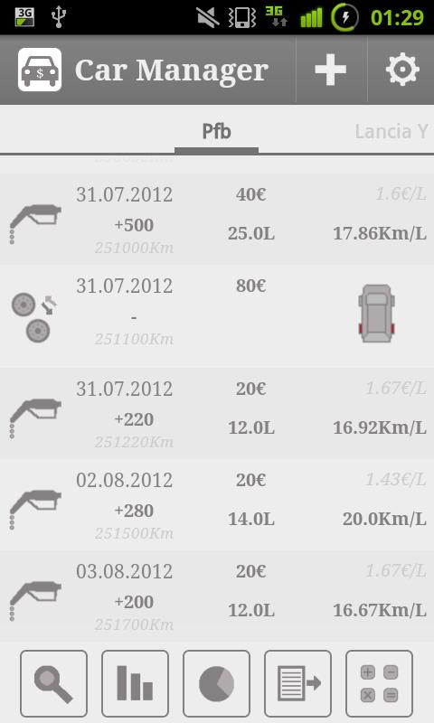Car Fuel Manager - Free - screenshot