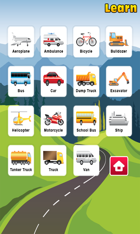 Kids Learning Vehicles - screenshot