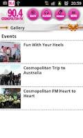 Screenshot of Cosmopolitan FM