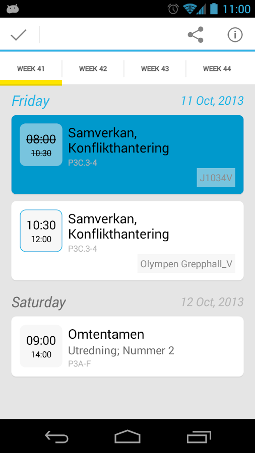 Uni-Schedule Lite - screenshot