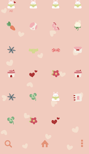 rabbit and carrot dodol theme - screenshot thumbnail