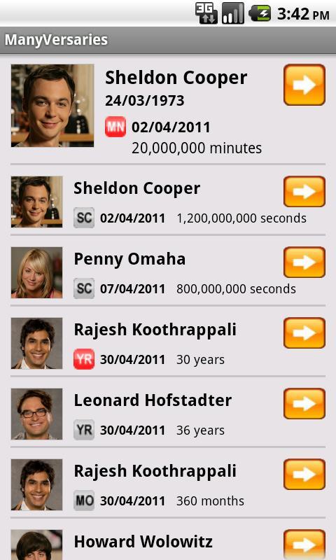 ManyVersaries- screenshot