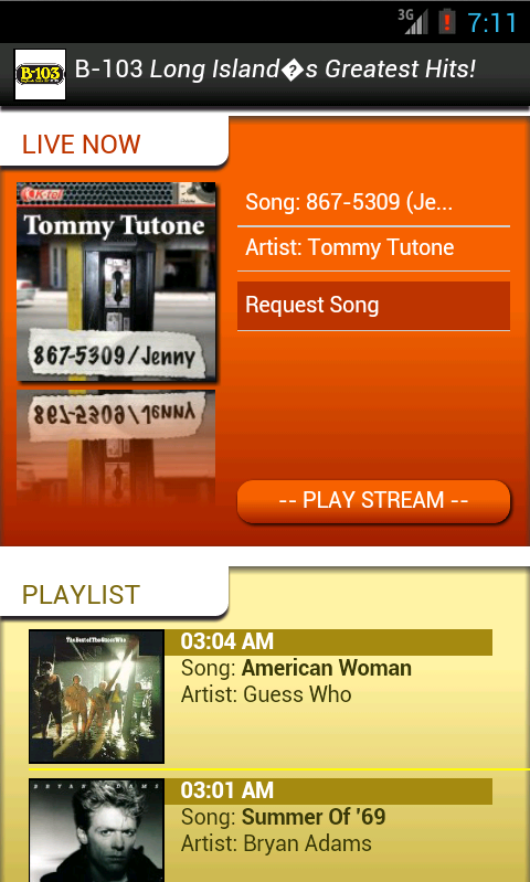 B103 Classic Hits 70s 80s WBZO - screenshot