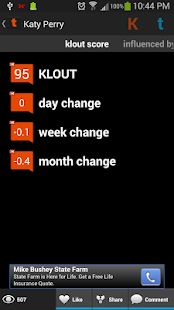 Twouter: Tweets + Klout - screenshot thumbnail