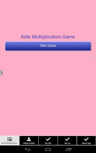 Kids Multiplication Table Quiz