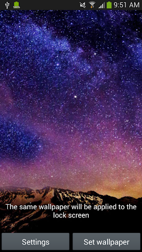 Night Sky Live Wallpaper