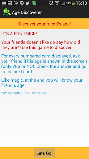 Age Discoverer Trick