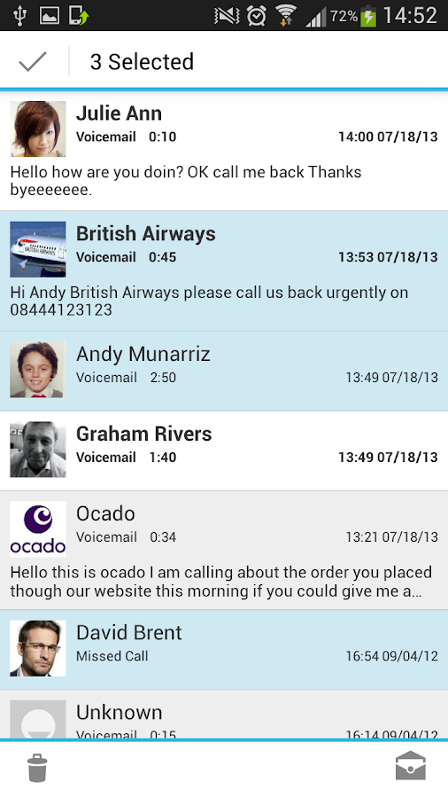 HulloMail Smart Voicemail - screenshot