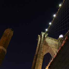 Brooklyn Bridge Under The Stars by VAM Photography - Buildings & Architecture Public & Historical (  )