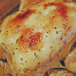 Roasted Chicken with Garlic and Wine