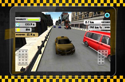 乘坐出租車在交通尖峰時刻