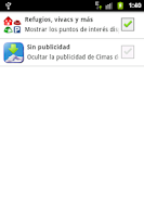 Screenshot of Cimas de España