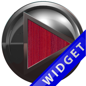 Poweramp Widget Red Wood Metal for PC