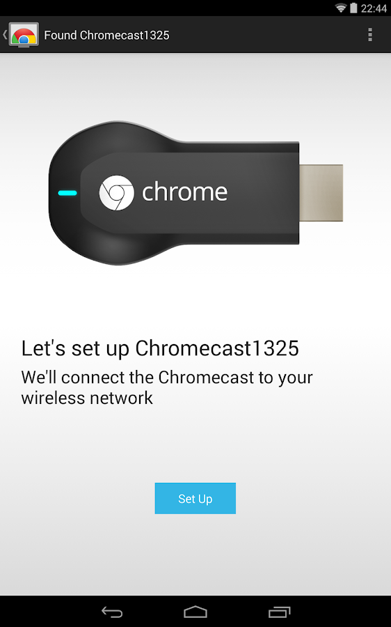 Chromecast - screenshot
