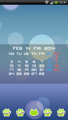 Calendar for Zooper Widget