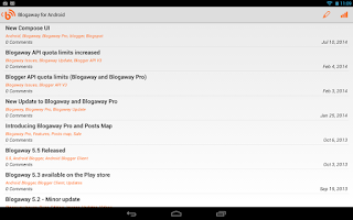 Screenshot of Blogaway for Android (Blogger)